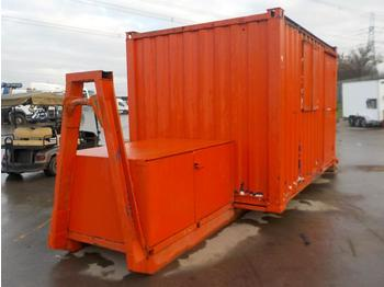 12' x 8' Welfare Unit, Generator Storage, Fixed to RORO Frame to suit Hook Loader Lorry - multilift konteiner