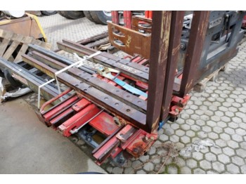 AURAMO KS25FBK DOUBLE PALLET CLAMP  - kahvlid